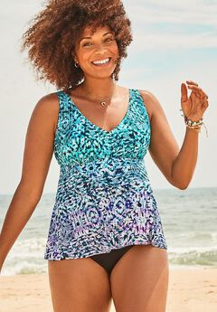 V-Neck Flowy Tankini Set,