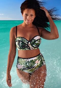 Madame Underwire High Waist Bikini Set,