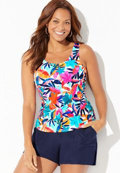 Classic Tankini Set with Cargo Short,
