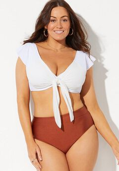 GabiFresh Navigator Cap Sleeve High Waist Underwire Bikini,