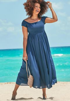 Harper Tie Dye Cover Up Maxi Dress, MIDNIGHT
