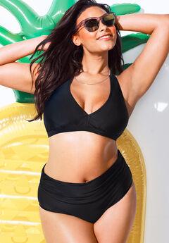 Diva Halter Bikini Set with Foldover Brief,