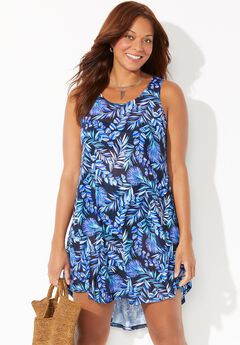 Quincy Mesh High Low Cover Up Tunic,
