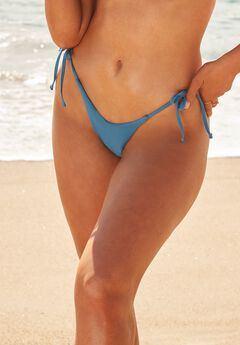 Camille Kostek Classic String Bikini Bottom, STEEL
