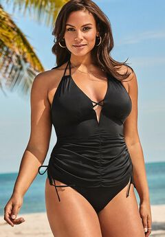 Ashley Graham Plunge Tankini Set,