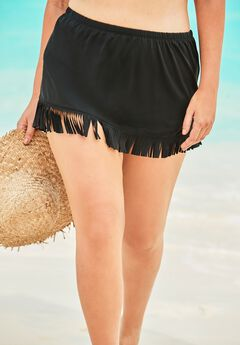 Fringe Swim Skirt ,