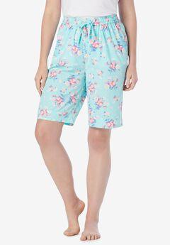 Cotton Poplin Pajama Shorts ,