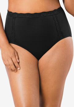 Cotton Full Brief Panty With Lace,