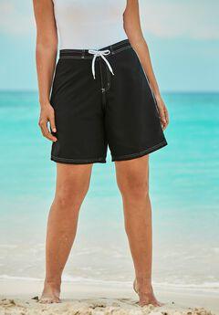 Contrast-Trim Long Boardshort ,