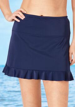 Ruffle-Trim Swim Skirt ,