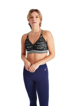 Women Curvy Strappy Sports Bra - Print,