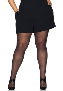 Curves Control Top Sheer Tights,