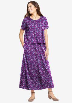 Short-Sleeve Popover Dress,
