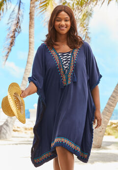 Lace-Up Caftan Cover Up by Swim 365,