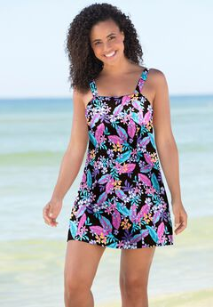 Princess-Seam Swim Dress by Swim 365,