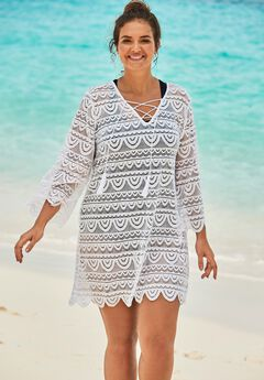 Scallop Lace Cover Up ,