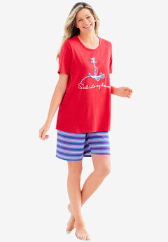 Knit PJ Short Set,