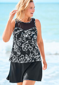 High-Neck Swim Tankini Top ,