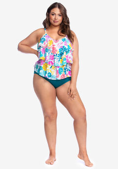 Triple-Tier Tankini Top By Kenneth Cole Reaction by Swim 365,