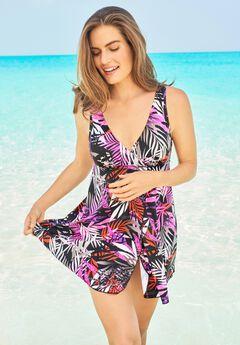 Surplice Swim Dress ,