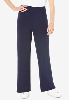 Stretch Cotton Wide Leg Pant,