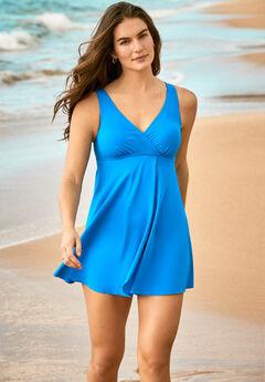 Surplice Swim Dress,