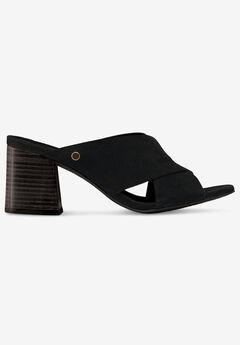 Suede Block Heel Sandal by ellos®, BLACK