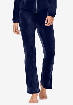 Velour Bootcut Lounge Pants,