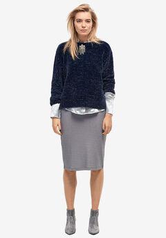 Glitter Rib-Knit Skirt,