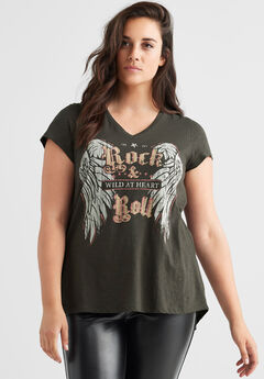 Rock & Roll Graphic Tee by ellos®,