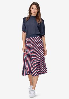 Pleated Midi Skirt,