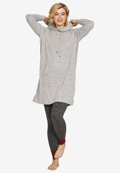 Funnel-Neck Lounge Sweatshirt Tunic,