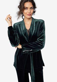 Velvet Belted Blazer by ellos®,