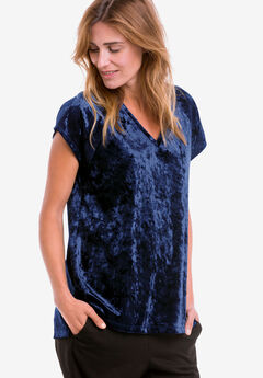 Crushed Velour Tee by ellos®,