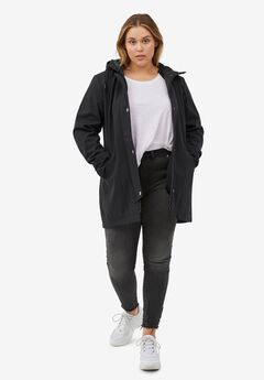 Bonded High-Low Jacket by ellos®, BLACK