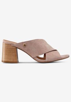 Suede Block Heel Sandal by ellos®,