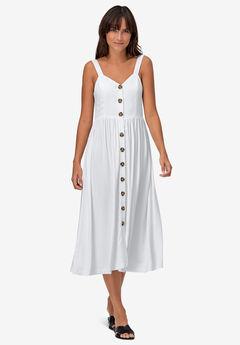 Button-Front A-Line Dress by ellos®,