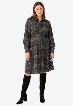 Belted Shirtdress by ellos®,