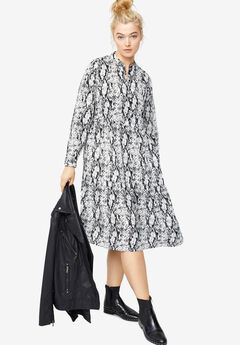 Tiered Midi Dress by ellos®,