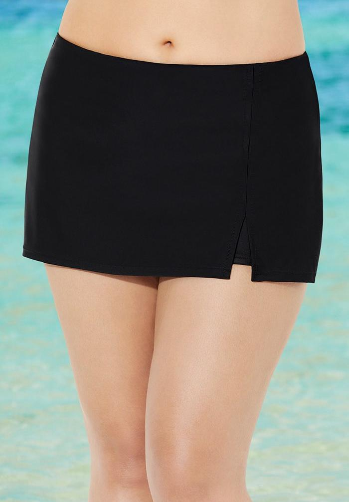 Side Slit Swim Skort,
