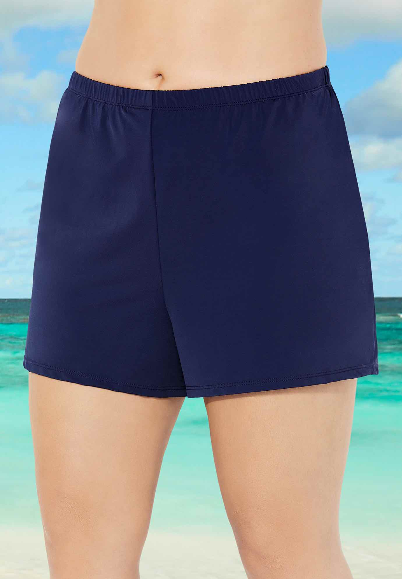 Relaxed Fit Swim Short, NAVY