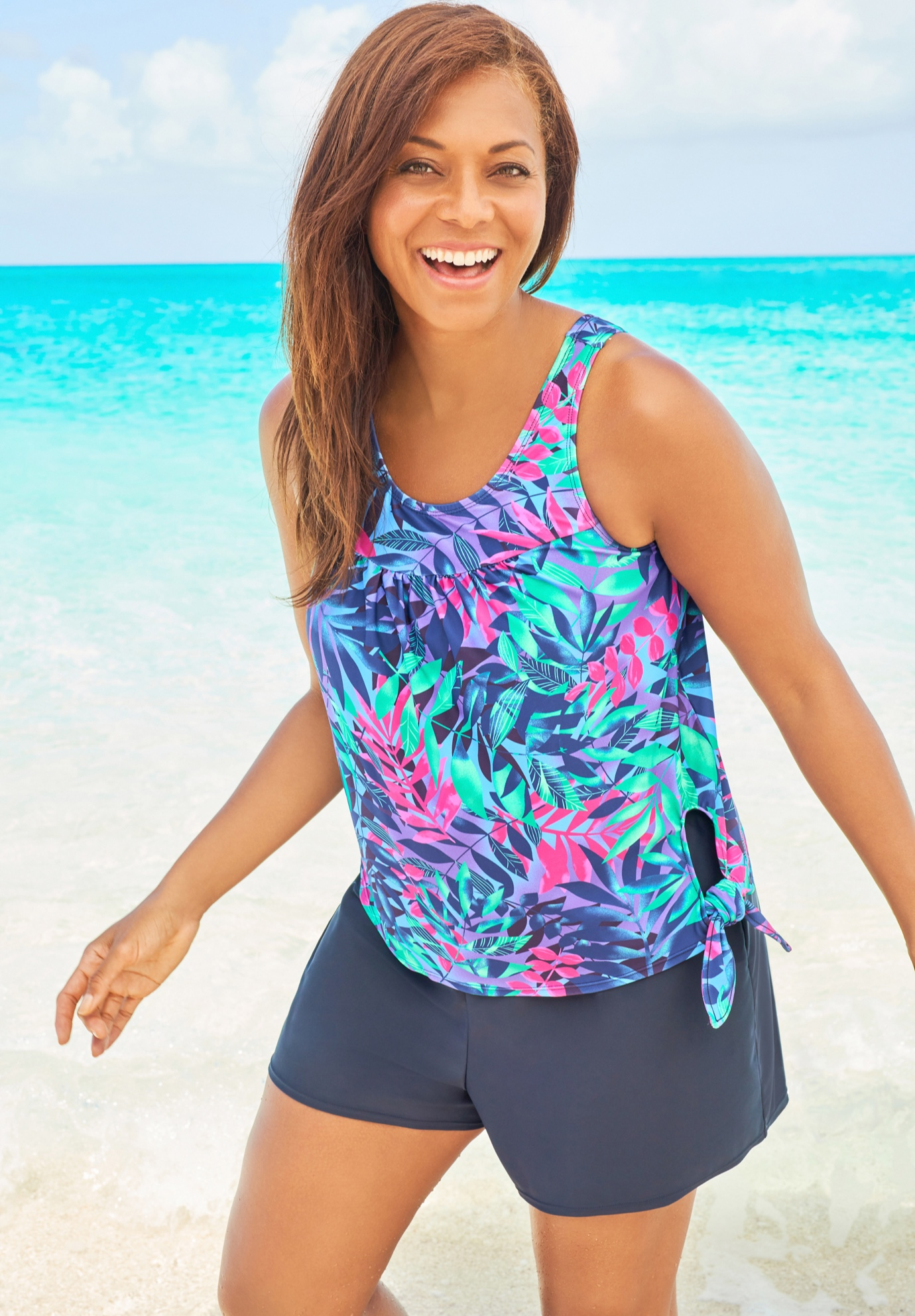 2-Piece Blouson Swim Set by Swim 365,