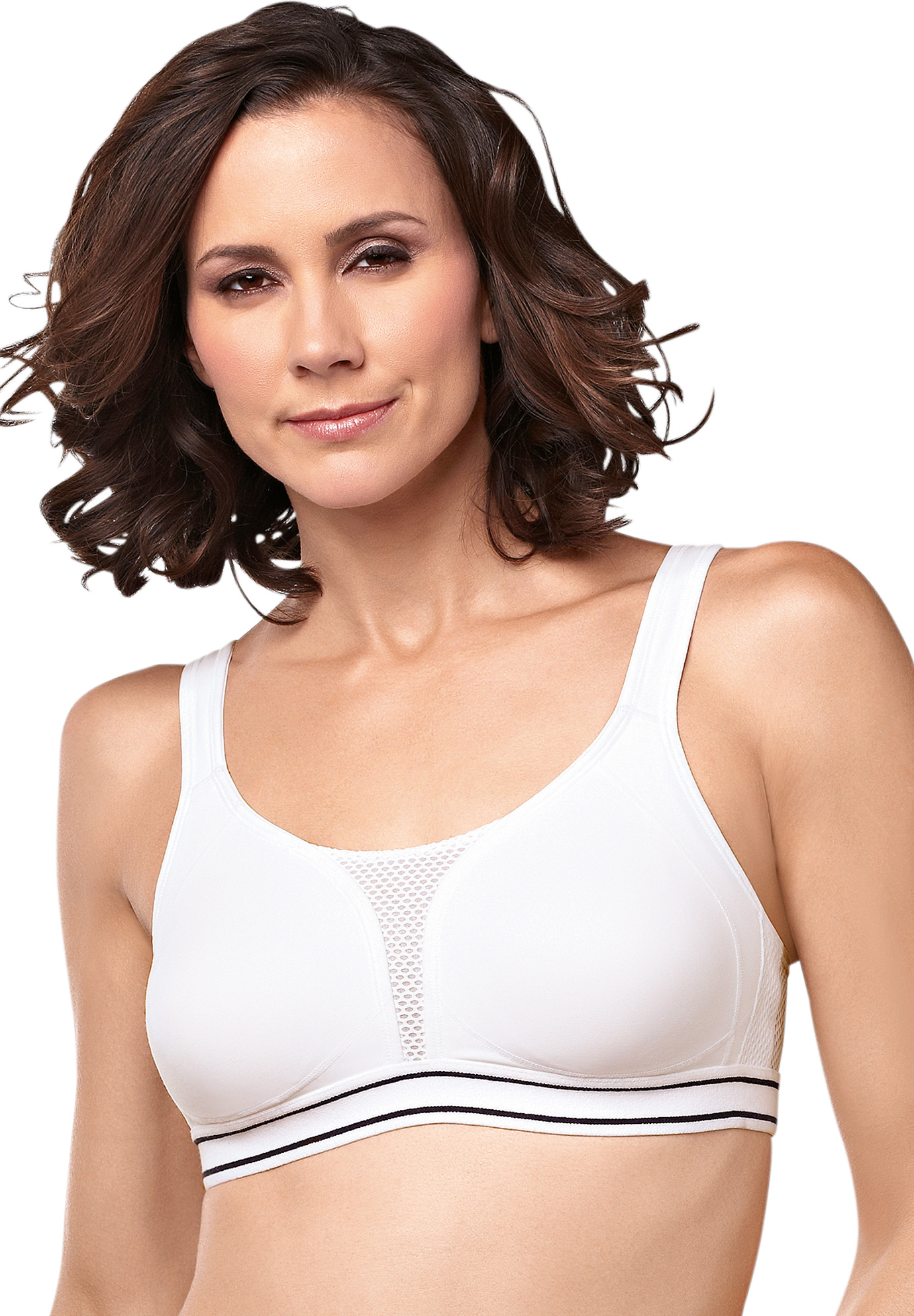 Swimsuitsforall.com coupon: Plus Size Women's Amoena Performance Sports Bra by Amoena in White (Size 32 C)
