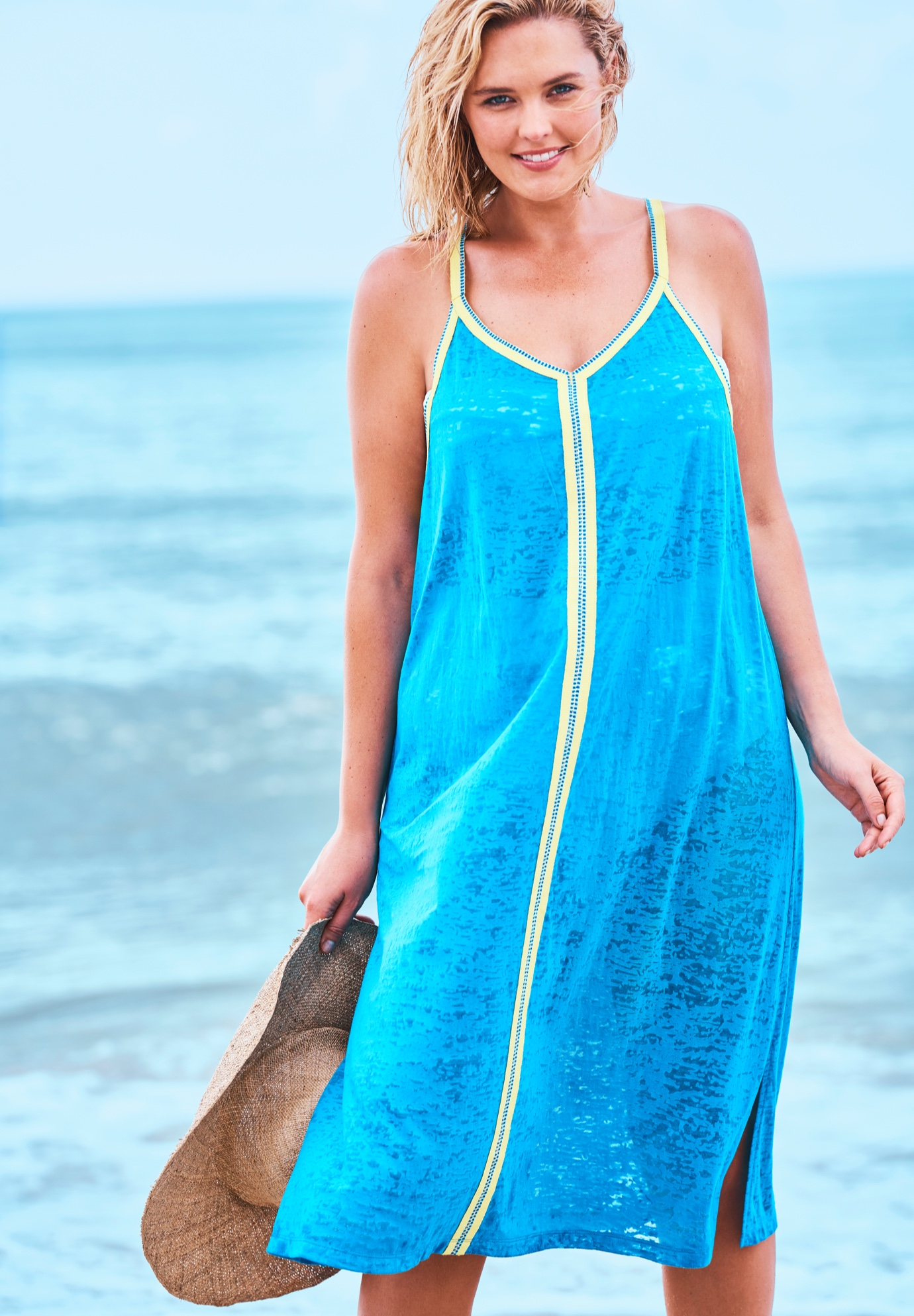 Burnout Cover Up Dress by Swim 365,