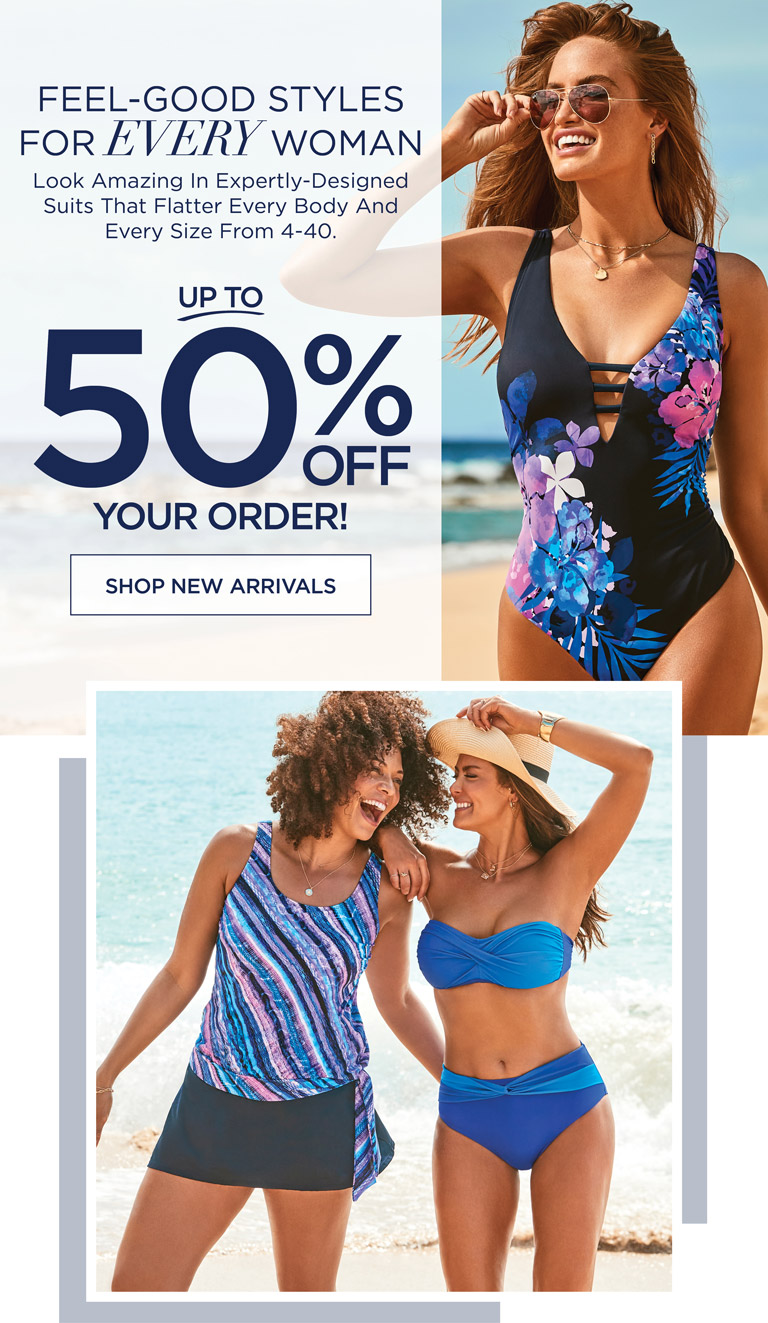 FEEL-GOOD STYLES FOR EVERY WOMAN - Look Amazing in Expertly-Designed Suits That Flater Every Body And Every Size From 4-40. Up To 50% OFF Your Order - SHOP NEW ARRIVALS