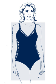 A straighter frame. Your hips tend to have a similar width as your shoulders. You do not typically have a lot of curves.
